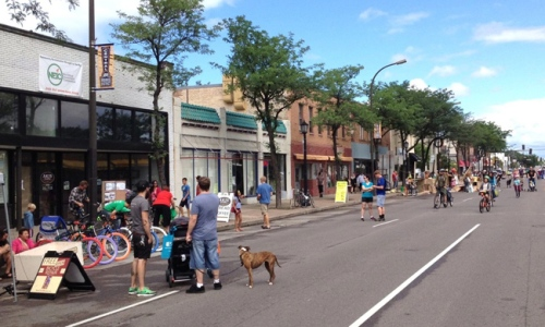 A neighborhood event in northeast Minneapolis. Photo courtesy of the author.